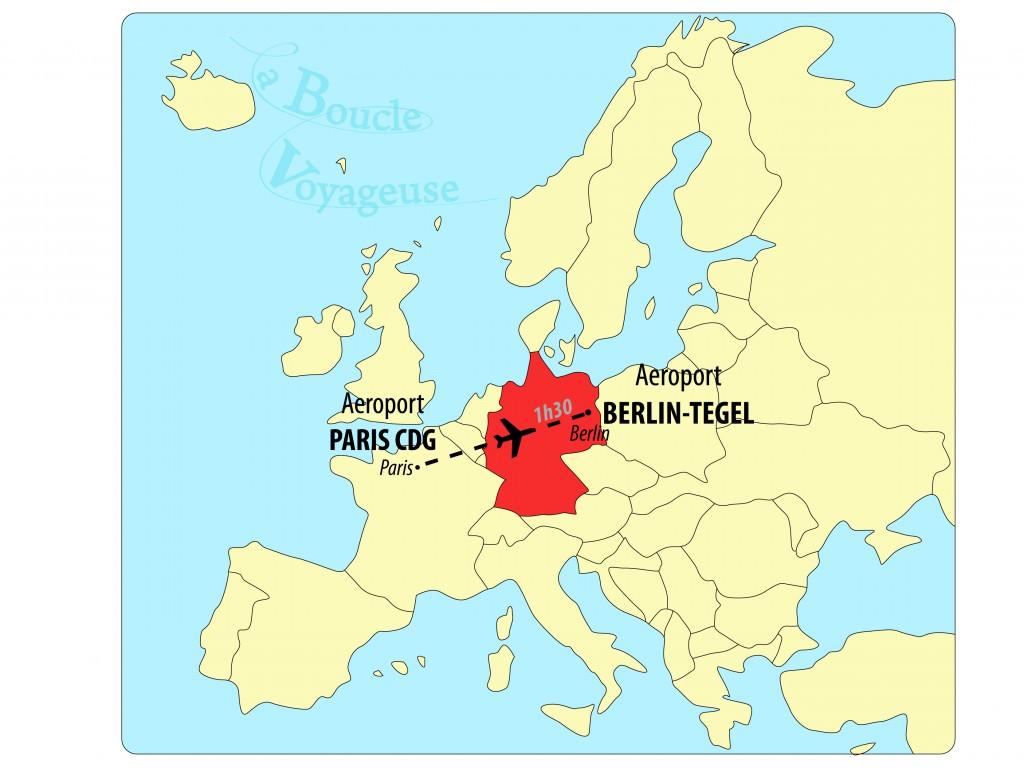 Carte europe BERLIN