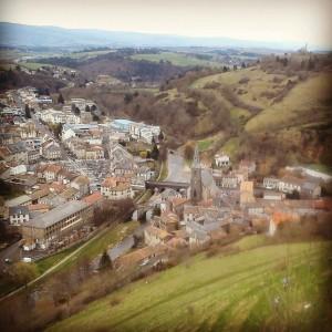Saint-Flour vue de la Haute-Ville.