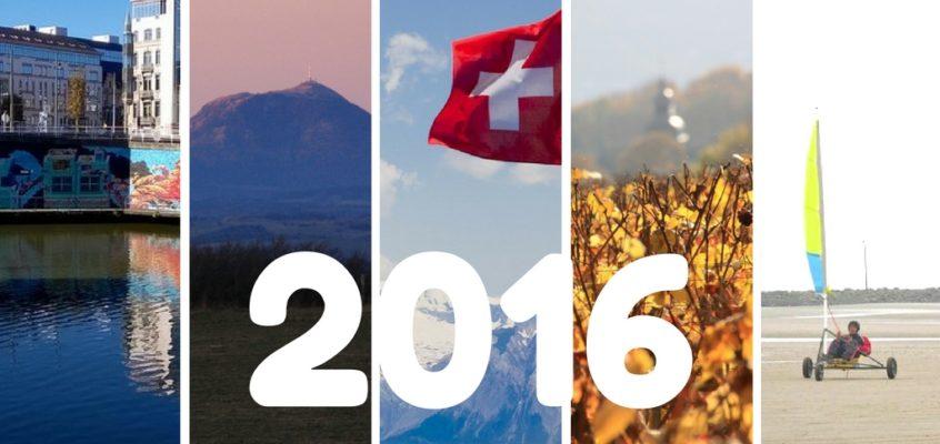 2016, une année tout en escapades