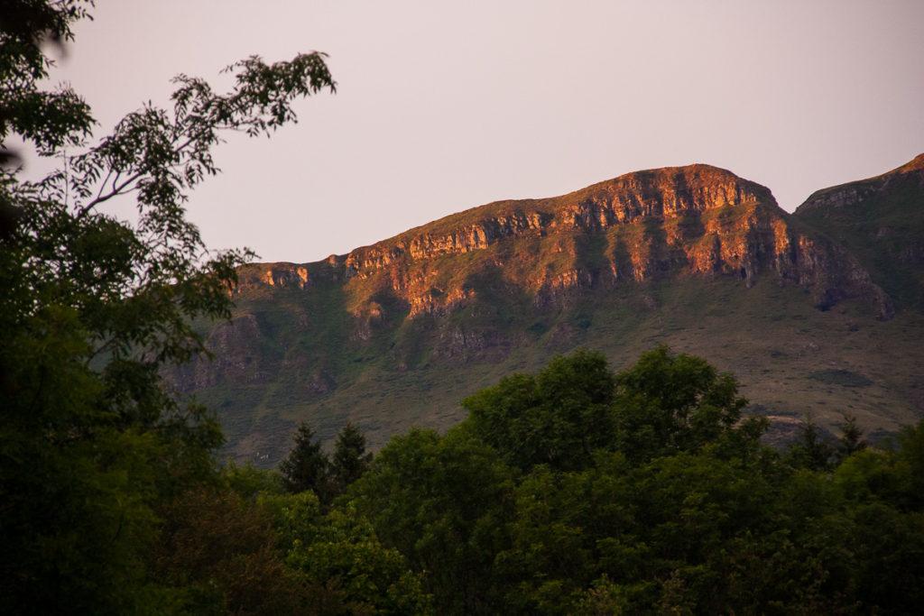 Vue du camping de Mandailles cantal