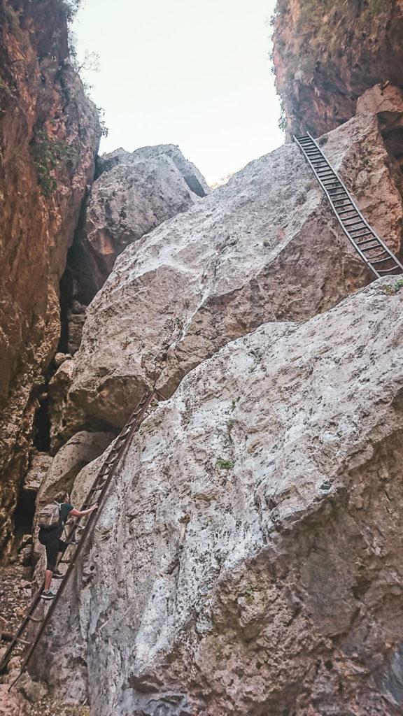 Echelles Gorges d'Aradena