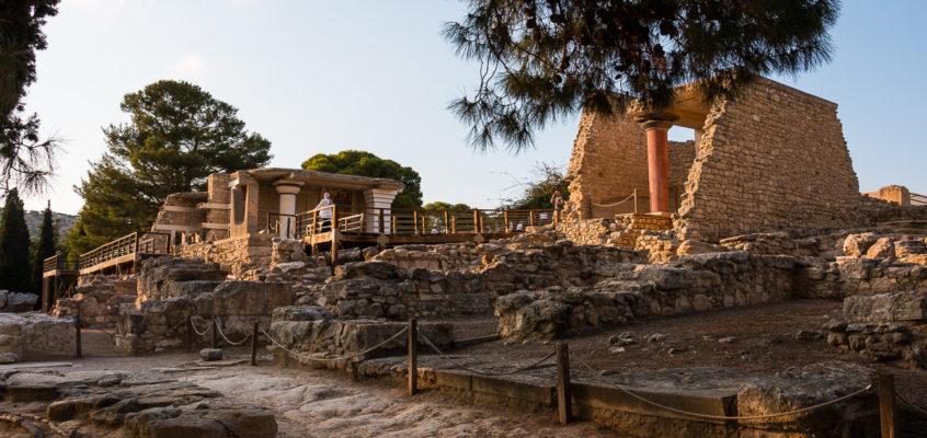 Le palais de Knossos en Crète