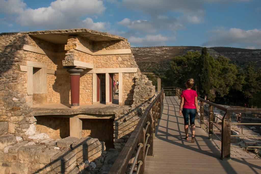 Visite du temple de Knossos