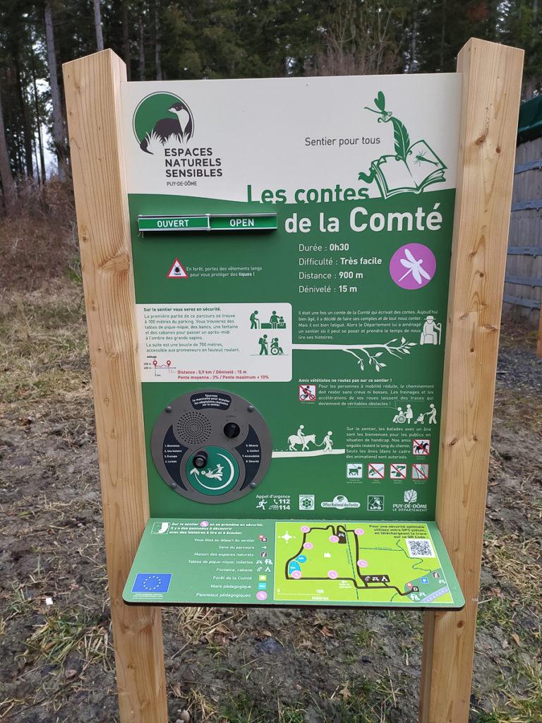 Balade en Auvergne en poussette forêt de la comté